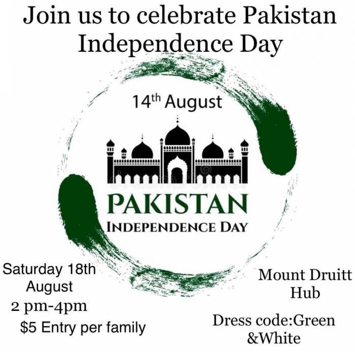 Pakistan Independence Day Celebrations in Sydney, 18th August 2018